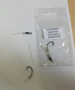 1.Extended Hair Rig 15lb Size 6 Barbless