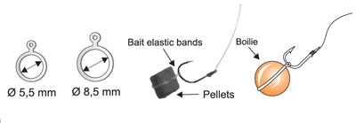 EXC bait bands 5,5mm, 8,5mm